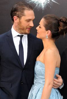 Tom Hardy & Charlotte Riley on the 'black carpet' for The Dark Knight Rises.