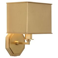 Lighting - Robert Abbey Lighting Mary Mcdonald Pythagoras Wall Sconce I 1 Stop Lighting - hexagonal brass wall sconce, contemporary brass wall sconce with metal shade, matte brass octagonal wall sconce with metal shade, Plug In Wall Sconce, Swing Arm Wall Sconce, Indoor Wall Sconces, Rustic Wall Sconces, Bathroom Wall Sconces, Wall Sconce Lighting, Kitchen Lighting, Robert Abbey Lighting, Sconces Living Room