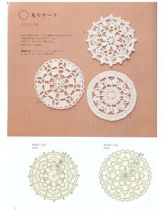issuu crochet lace by Crochet Earrings Pattern, Crochet Motif Patterns, Crochet Mandala, Crochet Diagram, Crochet Flowers, Crochet Dollies, Crochet Lace, Crochet Round, Crochet Squares