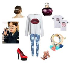 """Jimin"" by wkatie-1 on Polyvore featuring Canvas by Lands' End, Lime Crime and Jon Richard"