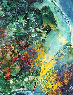 Roy Kinzer paints amazing aerial landscapes. Roy is a New York artist, and was a visiting artist when I was in graduate school.