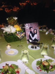 Photo centerpiece table numbers