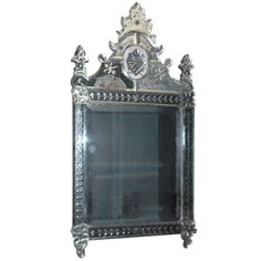 Italian Venetian Mirror | From a unique collection of antique and modern wall mirrors at https://www.1stdibs.com/furniture/mirrors/wall-mirrors/