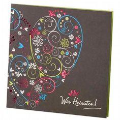 """Hochzeitseinladung """"Britta"""" - Tolle Ornamente passend zur Hochzeit - weddix"""