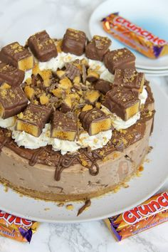 A Creamy, Chocolatey, Sweet, and delicious No-Bake ChocolateCheesecake using Cadbury's Crunchies, Crunchie Spread, and even more Delicious – My favourite, Crunchie Cheesecake! Hi, I'm Jane,...