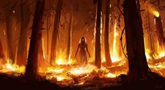 Beautiful Drawing Of A Forest Fire - Pin By Luke Wilson On Stefan Koidl Horror Art Creepy Art Forest Fire Acrylic Painting Canvas Piece Fire Painting Art Fire Goddess Sets Beautiful Flame. Arte Horror, Horror Art, Dark Fantasy Art, Dark Art, Fire Painting, Painting Canvas, World Of Darkness, Creepy Art, Beautiful Drawings