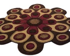 Lady Slipper Penny Rug limited edition art floral home