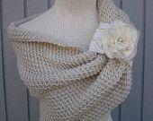 bridal bolero  shrug  custom order sm-md. $114.00, via Etsy. chunky knit