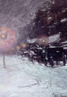 Childe Hassam, Winter, Midnight 1894