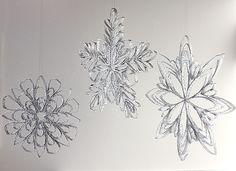 Christmas Ornament Countdown: Cardboard Tube Snowflakes