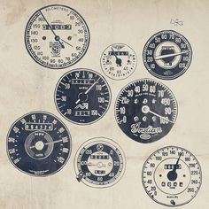 Vintage motorcycle speedometers