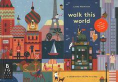 Walk this world - Jenny Broom & Lotta Nieminen. De wereld rond in één dag.