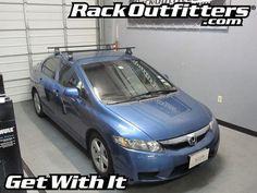 Honda Civic 4 Door Thule Traverse Square Bar Base Roof Rack U002706 U002712