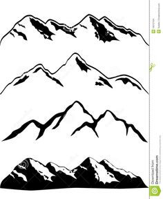 Images For > Mountain Drawing Outline