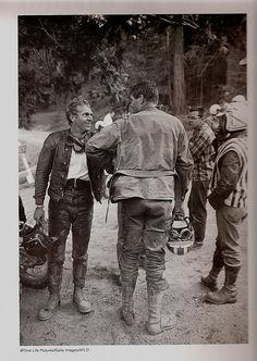 A post ride Steve McQueen wearing Red Wing 877's.
