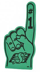 Saskatchewan Roughriders Foam Finger - Sale Prices - Deals - Canada's Cheapest Prices - Shoptoit