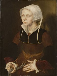 1548, Portrait of a Nineteen-Year-Old Woman; Follower of Maarten van Heemskerck, Netherlandish (active Haarlem and Rome), 1498 - 1574; Philadelphia Museum of Art - Collections Object : Portrait of a Nineteen-Year-Old Woman