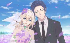 Violet Evergarden Gilbert, Violet Evergarden Wallpaper, Hyanna Natsu, Violet Evergreen, Violet Garden, Violet Evergarden Anime, Anime Wedding, Kyoto Animation, Matou