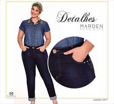 Cigarrete jeans plus size - denim