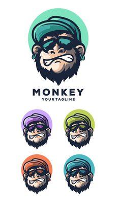 Monkey Geek Logo Template AI, EPS Logo Templates, Monkey, Geek Stuff, Fictional Characters, Geek Things, Jumpsuit, Monkeys, Fantasy Characters, At Sign