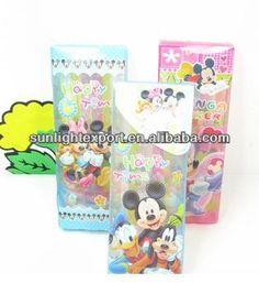 cheap clear plastic pencil box for kids with cute cartoon