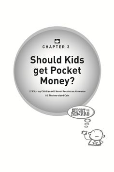 Kids and Money book, written by Phil Strong - what do we discuss in chapter 3 - Should kids get pocket money?