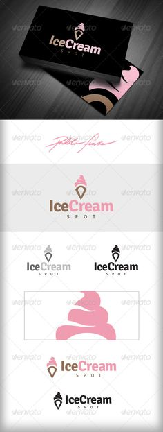 Ice Cream Shop Logo - Ice Cream Store Locator - Food Logo Templates