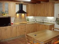cocina estilo rustico de madera cerezo | The kitchen\'s | Pinterest ...