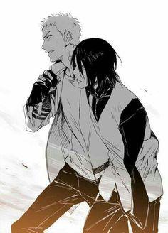 Mejores amigos Naruto y Sasuke
