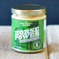 Horsepower Mustard | $6.99. Sweetened with Vermont maple syrup and backed up with a perfectly balanced horseradish bite, this mustard has a smooth kick. Available at: manykitchens.com