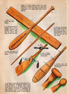 free canoe paddle plans