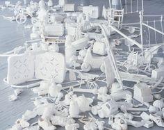 Leonardo Drew- cast paper sculptures