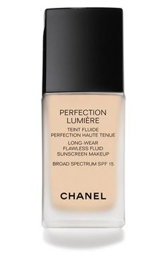 CHANEL PERFECTION LUMIÈRE Long-Wear Flawless Fluid Sunscreen Makeup Broad Spectrum SPF 15 | Nordstrom