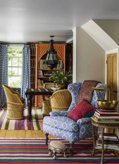 My sweet friend John Robshaw just had his Connecticut country house published by Elle Decor and I thought we'd take a peek. The textile designer bought the early 19th-century cottage in the Litchfield Hills as an escape from the city and with eight magnificent acres, it's certainly that. The home showcases John's fearless use of …