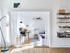 A monochrome Swedish home with lovely light