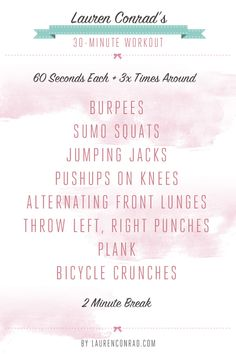 Shape Up: My 30-Minute Workout - I must admit i have only done this once, but plan to do it again and on a regular basis...i know it works after the first time I could not walk properly for a couple of days! got to keep it up!