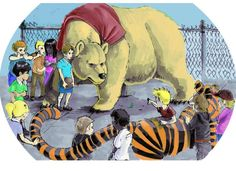 Christopher Robin and Winnie the Pooh vs. Calvin and Hobbes on the Playground.