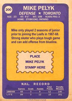 Missing in Action Hockey and Detroit Lions Football . - The Compleat Toronto Maple Leafs Hockey Card Compendium Phil Esposito, Casey Stengel, Detroit Lions Football, Maple Leafs Hockey, Missing In Action, Bobby Orr, Thing 1, Hockey Cards, Toronto Maple Leafs