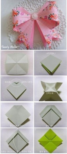 How To Make Origami Paper Bows 2
