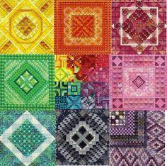 Rainbow Patchwork Needlepoint
