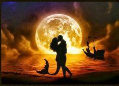 La noche y la luna son testigos de nuestro amor
