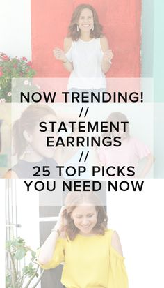 The top 25 cutest statement earrings you need for summer (lots of budget buys!) // the modern savvy