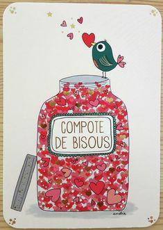 News Art Cards - Amélie Laffaiteur Birthday Wishes, Happy Birthday, Art Carte, Valentine's Day Diy, Cute Illustration, Paris Illustration, Valentines Diy, Positive Attitude, New Art