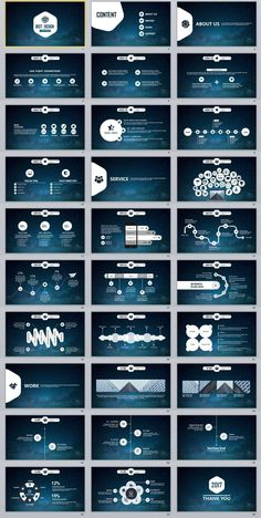 30+ Black business Data PowerPoint Template