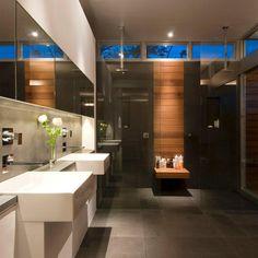 47 Modern Contemporary Bathroom Design Ideas - 2020 Home design Modern Bathrooms Interior, Modern Contemporary Bathrooms, Modern Bathroom Tile, Bathroom Interior Design, Bathroom Vanities, Contemporary Furniture, Contemporary Cottage, Modern Shower, Bathroom Ideas