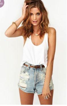 summer, shorts, denim: