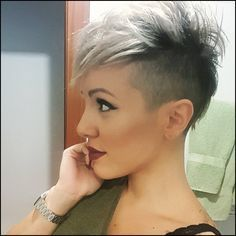 Pin by rachel gordon on Style Hair | Pinterest | Short hair ... #Frisuren #HairStyles 30+ Kurze Funky Pixie Frisur