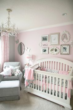 Baby Nursery Elegant Pink Amp Grey Nurseries And With Regarding Residence Design
