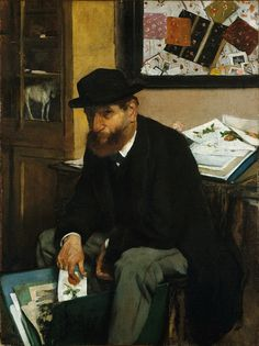 Edgar Degas - The Collector of Prints [1866] | Flickr - Photo Sharing!