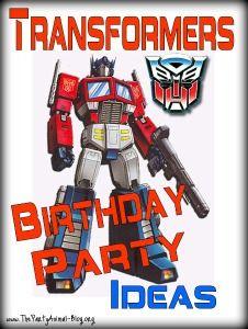 Festa Transformer Birthday 5th Party Ideas Boy 50